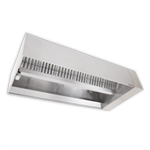 Single Island V-Bank Exhaust Only Hood with Perforated Supply Plenum, NDI Series