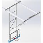 Kattoon kiinnitettävä koripallomaali    7,6-8,1 m , akryylilauta, eteenpäin nostettava