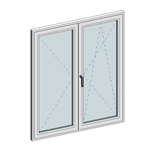 STRUGAL S46 Window (Two-Leaf)