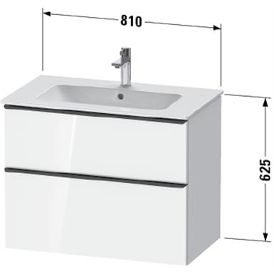 de4362 d-neo vanity unit wall-mounted