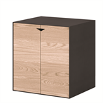 Box Black Module Black Big With Oak Door