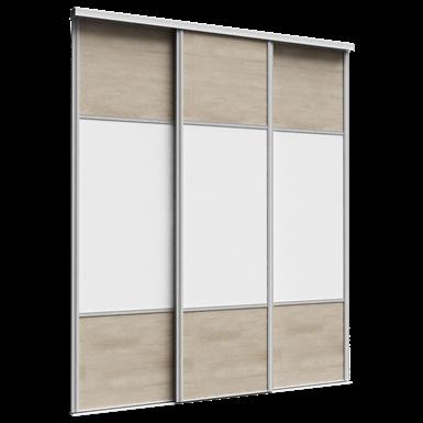 porte de placard coulissante premio 3p (3 partitions) 3 portes