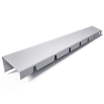 bandeau de faîtage à rejet oblique  c4-2  hauteur 45