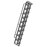 Aluminum Alternating Tread Ladder To Hatch