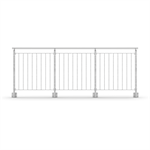 Sectional Railing Round Bar Side Mounted