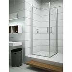 Egipthia - Hemsut - Pivot twin doors at 180º with angle access for shower