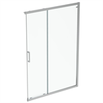CONNECT 2  UNHAND DOOR 140 CLEAR GLASS BRIGHT SILVER FINISH
