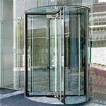 revolving door, all glass crane 4000 series showcase
