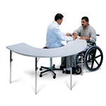 Hausmann Industries 6674 Horseshoe Therapy Table