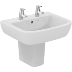 p_tempo 60cm washbasin,  2 tapholes