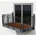 Balcony with Gaula steel railing