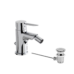Klys Single lever bidet mixer with pop-up waste
