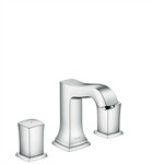 Metropol Classic 3-hole basin mixer 110 with zero handles and pop-up waste set 31304000