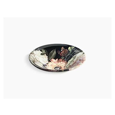 Dutchmaster Blush Floral™ Carillon® Round Wading Pool® vessel bathroom sink