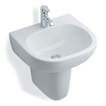 jasper morrison 50cm washbasin, 1 taphole no overflow wall/semi pedestal