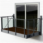 Balcony with Vinstra glass railing