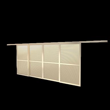 Volet coulissant ONDEA 4 vantaux double rails