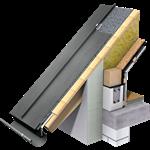 enkele staande fels dak (430 mm, prepatina graphite-grey)