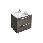 tempo wall hung 600mm vanity unit with 2 drawers