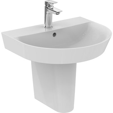 connect air arc washbasin 550x460mm, 1 taphole, with overflow