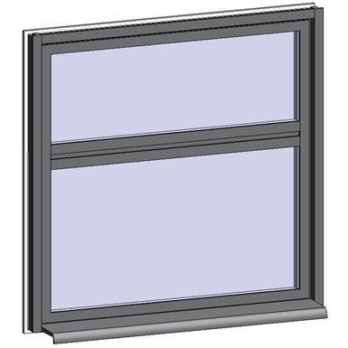 fixed window with 2 vertical zones