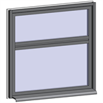 fixed window with 2 vertical zones