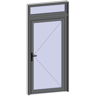 grand trafic doors - single inward opening with transom