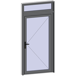 grand trafic doors - single inward opening with transom