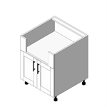 Appliance Cabinet Low Burner Base - 2 Door (OBB)