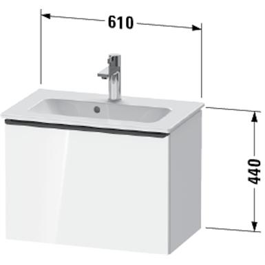 de4268 d-neo vanity unit wall-mounted