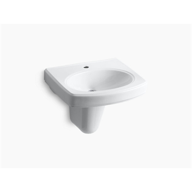pinoir® wall-mount bathroom sink with single faucet hole