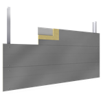 steel facings s  with panel cladding pur pir core h pos visible fixing