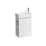 KARTELL BY LAUFEN Vanity unit, 1 door, right hinged, shelf left, open-sided, matches small washbasin 815334