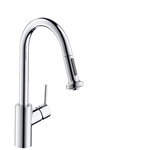 M5216-H220 Single lever kitchen mixer with pull-out spray 73863000