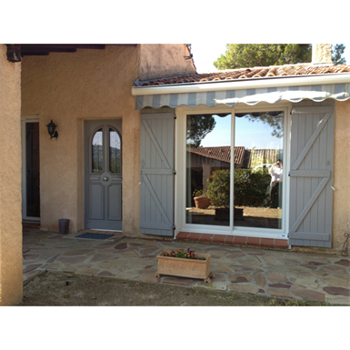 double pvc sliding door