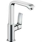 Metris Single lever basin mixer 230 with push-open waste set 31187000