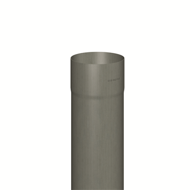 Downpipe round (size 100, length 2000 mm, prePATINA graphite-grey)