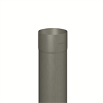 downpipe round (size 100, length 2000 mm, prepatina graphite-grey)