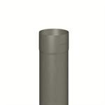 regenfallrohr rund (nenngröße 100, länge 2000 mm, prepatina schiefergrau)