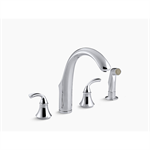 """forté® 4-hole kitchen sink faucet with 7-3/4"""" spout, matching finish sidespray"""