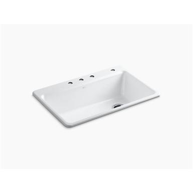 "Riverby®33"" x 22"" x 9-5/8"" top-mount single bowl kitchen sink w/ accessories"