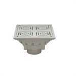 "FD2283 10"" Square Top Decorative Floor Drain"