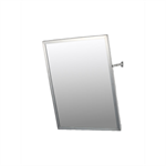 "Accessible Mirror Series Stainless Steel Frame Adjustable Tilt Mirror - 18"" x 24"" Surface Mounted"