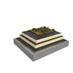Base KL 2-layer compact roof system for extensive green roof on concrete insulated with PIR