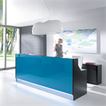 RECEPTION DESK LINEA straight