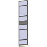 vertical strip windows - 7 zones