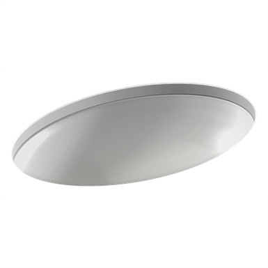 vox - oval undermount vanity basin 56.2 x 39.2 cm, with overflow hole