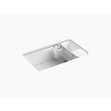 """riverby® 33"""" x 22"""" x 9-5/8"""" undermount single-bowl kitchen sink with accessories"""