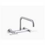 "purist®two-hole wall-mount bridge kitchen sink faucet with 13-7/8"" spout"