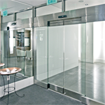 Automatic Sliding Door, All Glass ESA500 BP CW-R15